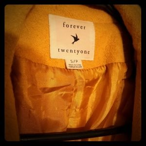 Forever 21 mustard yellow coat